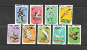 BIRDS - MALDIVES #691-99   MNH