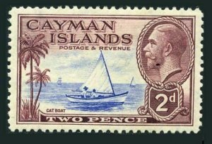 Cayman 89,lightly hinged.Michel 90. King George V,1935.Catboat.