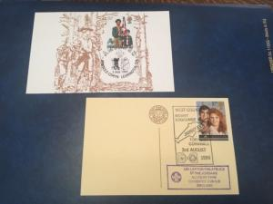 ICOLLECTZONE Boy Scout Postcard/ Cover Lot of Two- Great Britain (Bx1)