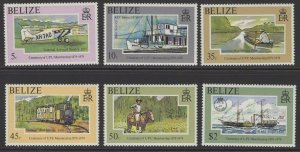 BELIZE SG480/5 1979 CENTENARY OF UPU MEMBERSHIP MNH