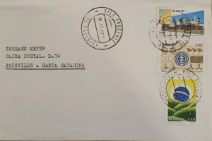 A) 1981, BRAZIL, ADDRESSED TO JOINVILLE-SANTA CATARINA, STAMPS OF NATIONALIZATIO