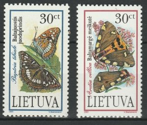 Lithuania 1995 Butterflies and Moth 2 MNH stamps