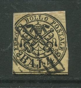 STAMP STATION PERTH Italy #5?  Roman States Used Imperforate CV$70.00?