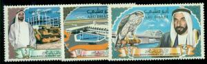 ABU DHABI #49-51 Complete set, og, NH, VF, Scott $43.00