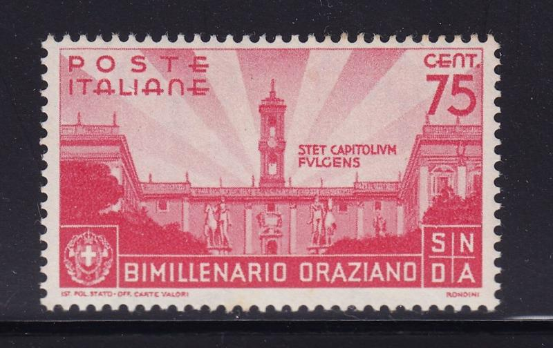 Italy Scott # 363 VF OG never hinged nice color cv $ 40 ! see pic !