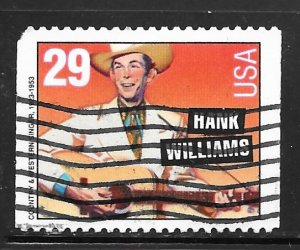 USA 2775: 29c Hank Williams, used, VF