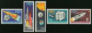 Mongolia 1963 MNH Stamps Scott 318-322 Space Exploration