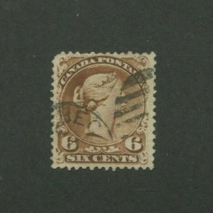 1868 Canada Postage Stamp #27 Used F/VF Postal Canceled