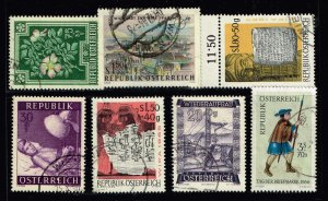 AUSTRIA STAMP SEMI POSTAL USED STAMP COLLECTION LOT   #W2