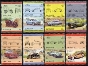 St Lucia 1984 Cars #2 (Leaders of the World) set of 16 (S...