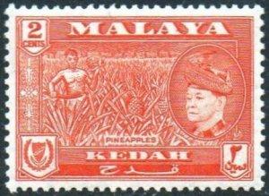 Kedah 1957 2c Pineapples MH