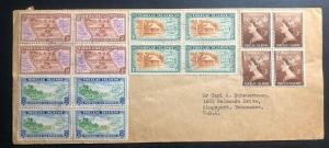 1955 Tokelau Island Cover To Kingsport TN USA Via Apia Samoa