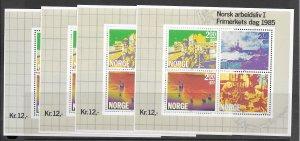 Norway B68 MNH S/S x 4, vf. 2022 CV $ 32.00