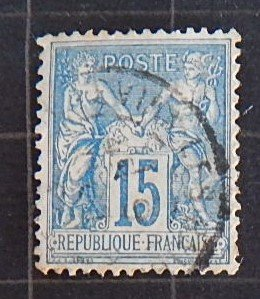 1877-1900, France, Pax and Mercur - New Values, YT #FR90 (1749-Т)