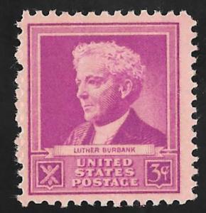 876 3 cents Luther Burbank Stamp mint OG NH F