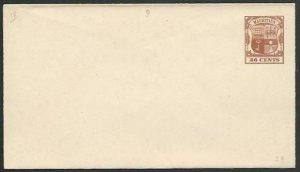 MAURITIUS 36c Envelope fine unused.........................................56508