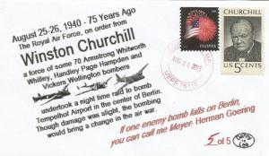 VERY LAST 25-26 AUG '40 70 RAF Bombers Hit Berlin on Chruchill Order #5of5 Cover