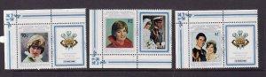 Aitutaki-Sc#262-4 unused  NH set with labels-Birthday-Princess Diana-id3-1982-