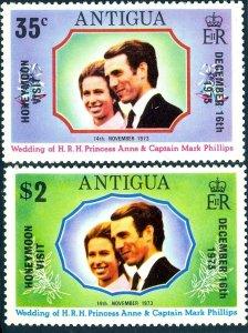 ANTIGUA - 1973 - WEDDING - ANNE & MARK - HONEYMOON - MINT - MNH SET!