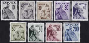 Latvia - 1992 - Scott #318-326 - MNH - Monuments