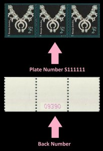 US 3758B American Design Navajo Jewelry 2c PNC3 back number MNH 2011