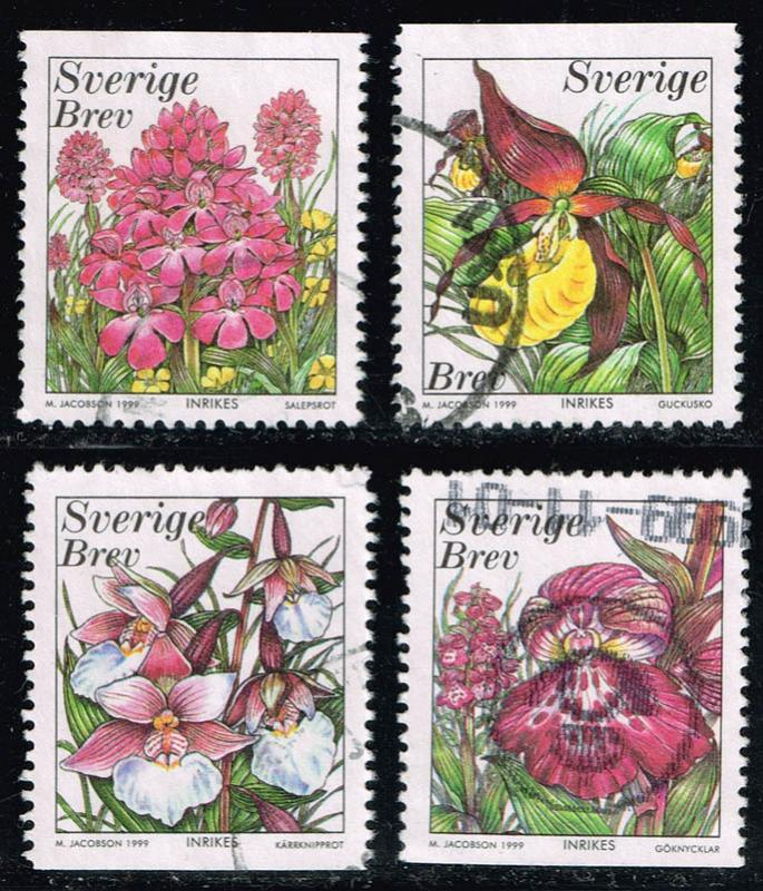 Sweden #2343-2346 Orchids Set of 4; Used (2.30)