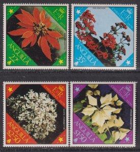 1979 Anguilla flowers complete set MNH Sc# 367 / 370 CV: $1.55