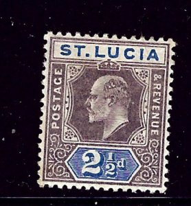 St Lucia 46 MH 1902 issue