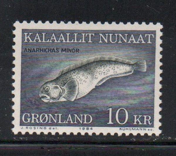 Greenland Sc 137 1984 10 kr fish stamp mint NH