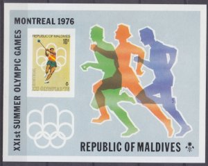 1976 Maldive Islands 671/B40b 1976 Olympic Games in Montreal 25,00 €