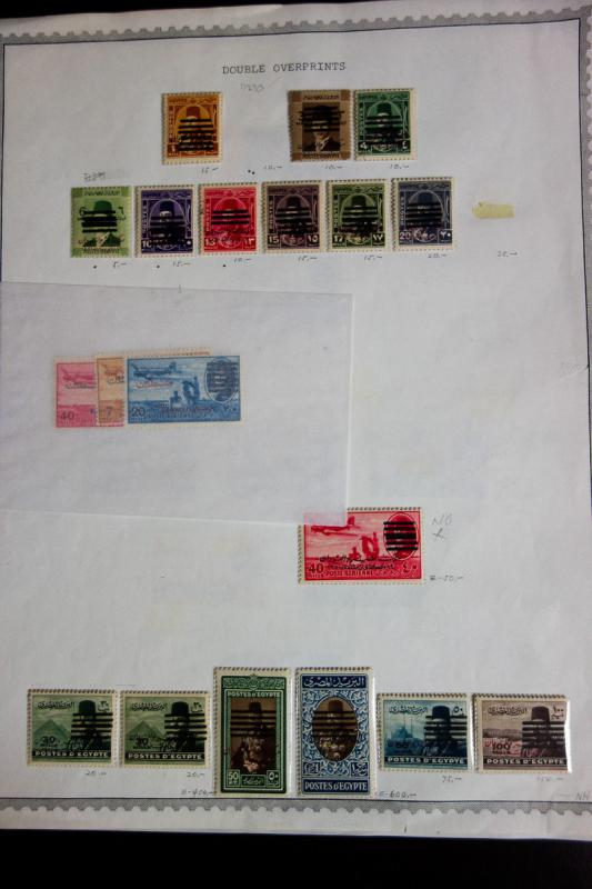 Egypt Farouk Stamp Collection Mint 6 Bar Early Rare