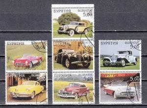 Buriatia, 2001 Russian Local. Vintage Cars. Canceled. ^