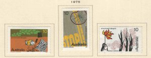 AUSTRALIA Scott 606-608 MH* 1975 Environmental Danger set