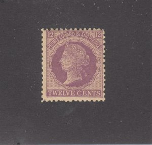 PRINCE EDWARD ISLAND # 16  F-MNH 12cts 1872 QUEEN VICTORIA /VIOLET CAT VALUE $10