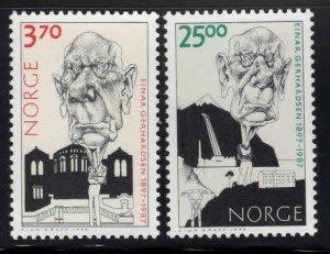 Norway Scott 1170-1171 MNH** Caricature set