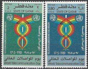 Qatar  599-600  MNH  ITU  International Telecommunications Day 1981