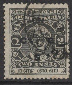 INDIA-COCHIN SGO50 1938 2a GREY-BLACK USED