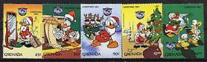 Grenada 1242-7 MNH Disney, Christmas, Donald Duck