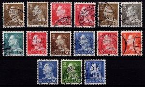 Denmark 1961-67 Frederik IX Definitives, Part Set [Used]