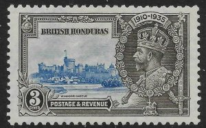 BRITISH HONDURAS SG143 1935 SILVER JUBILEE 3c MTD MINT
