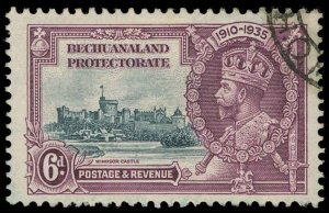 Bechuanaland Scott 120 Variety 2 Gibbons 114c Used Stamp