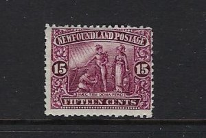 NEWFOUNDLAND SCOTT #114 1911 15 CENTS (TOP VALUE OF SET) MINT HINGED