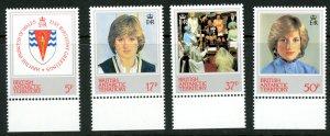 British Antarctic Territory 92-95 Diana 21st Birthday  MNH mint      (Inv 001...