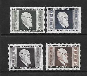 AUSTRIA, B167-B170, MINT HINGED, PRES. KARL RENNER