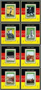 Ajman Mi693-700 Souvenir Sheet CTO