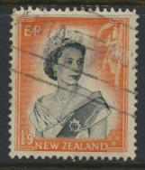 New Zealand SG 733b SC# 298A Used  see details 1953 QE II  Definitive Issue