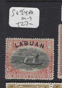 LABUAN   (P1709B)  8C  BOAT  SG 94A   MOG