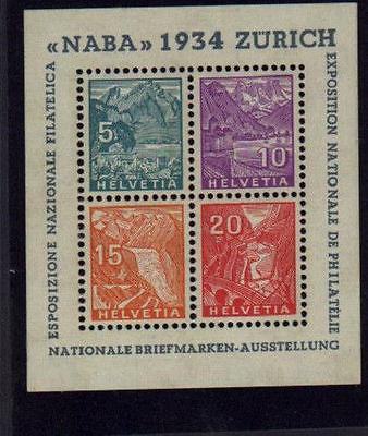 Switzerland #226 Naba sheet  Mint VF NH