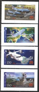 Vanuatu. 2007. 1340-43. Aviation, aircraft. MNH.