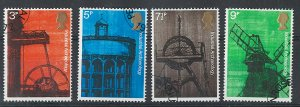 GB 1973 Industrial Architecture essays set of 4 singles 3p - 9p - see webphoto